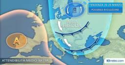 TENDENZA: IRRUZIONE ARTICA sull Europa centro-orientale dal 25 marzo